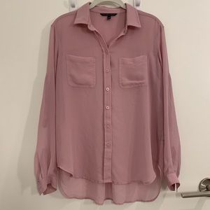 Victoria's Secret Pink Button-Up Shirt - Size XS